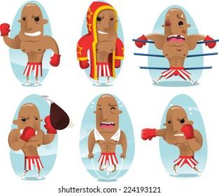 Boxer champion cartoon character