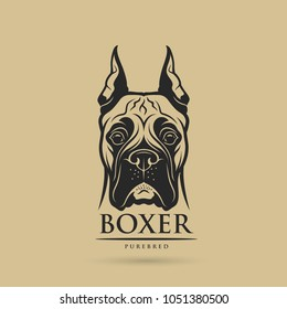 Boxer dog - isolated vector illustration