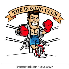 A boxer in the ring