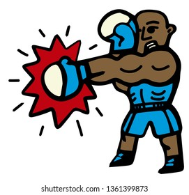 boxer throwing a punch