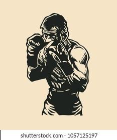 Boxers Logo Design. Vector Illustration.
