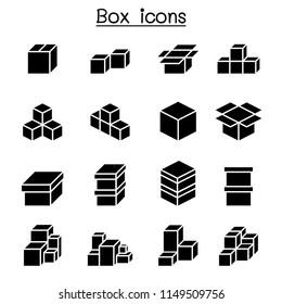 Boxes icon set
