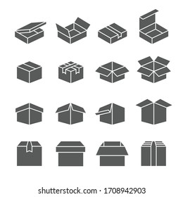 Boxes icon set /  packaging icon set 2