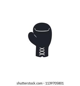 Boxing black flat icon. Vector illustration.