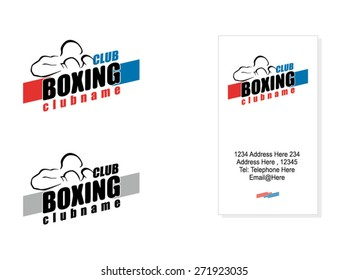 Boxing Club Logo, Business Card Example