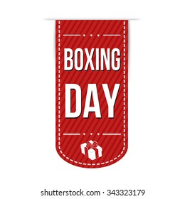 Boxing day banner design over a white background, vector illustration