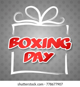 Boxing Day - card with wishes. Vector.