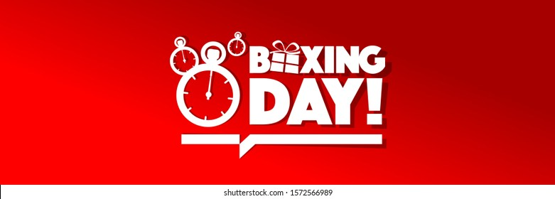 Boxing day on red banner
