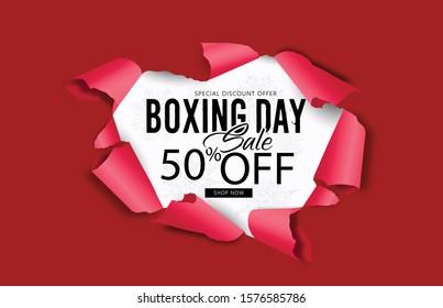 Boxing Day, Sale Banner, Poster or Flyer Design Sale template design