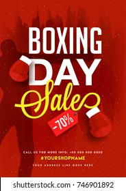 Boxing Day, Sale Banner, Poster or Flyer Design with Discount Offer.