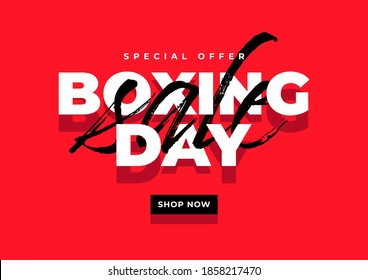 Boxing day sale banner template.