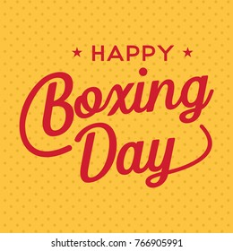 Boxing Day Sale Banner, Vector