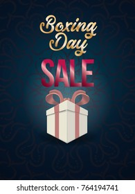 boxing day sale. christmas advertising clipping mask box and eps 10. coloring, blue, gray, red bubble and balls. special poster