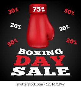Boxing day sale concept background. Realistic illustration of boxing day sale vector concept background for web design