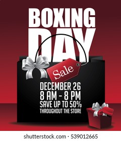 Boxing Day Sale shopping background. EPS 10 vector illustration.