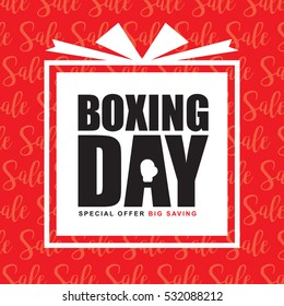 Boxing Day Sale template design. Happy Boxing Day vector illustration.