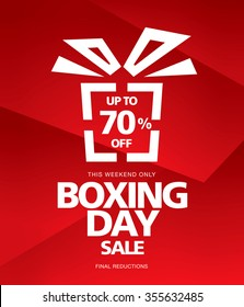 Boxing Day sale. Vector banner
