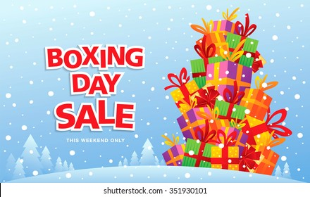 Boxing Day sale. Vector illustration