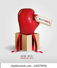 Boxing day shopping creative sale idea  / vector / isolated on white background.