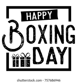 Boxing Day Super Sale Banner, Vector