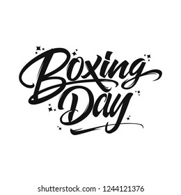 Boxing day typography