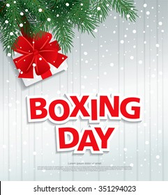 Boxing Day. Vector illustration