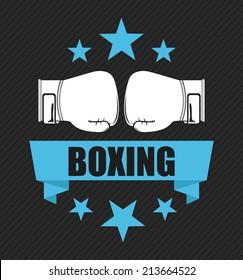 boxing design over black  background vector illustration