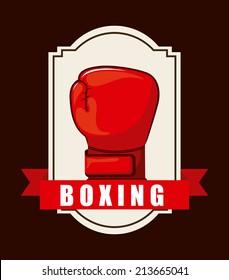 boxing design over brown background vector illustration