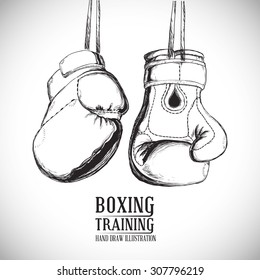 Boxing digital design, vector illustration 10 eps graphic