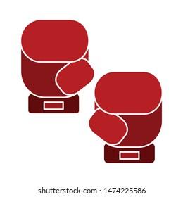 boxing glove icon. flat illustration of boxing glove vector icon. boxing glove sign symbol