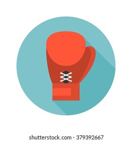 boxing glove icon vector, flat design