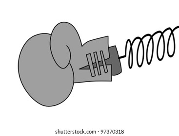 boxing glove on white background, vector illustration