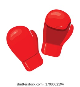 Boxing glove vector icon.Cartoon vector icon isolated on white background boxing glove.