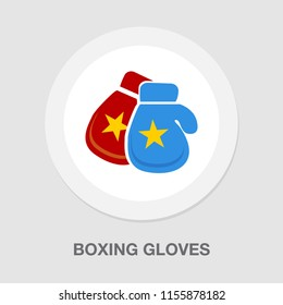Boxing gloves fight icon, red vs blue. fight Battle emblem vector illustration