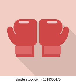 Boxing gloves in flat style. Vector illustration