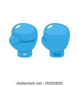 Boxing gloves in flat style. Vector illustration isolated on white background