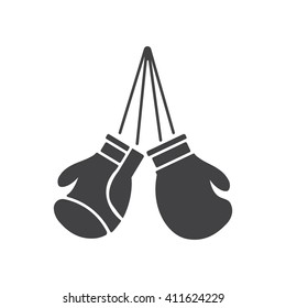 boxing gloves Icon Vector Illustration on the white background.