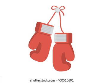 Boxing Gloves Illustration - Flat Icon