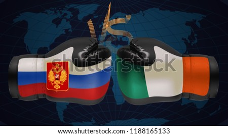 Boxing gloves with prints