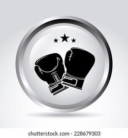 boxing graphic design , vector illustration