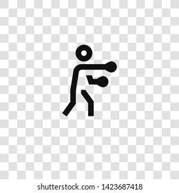 boxing icon from miscellaneous collection for mobile concept and web apps icon. Transparent outline, thin line boxing icon for website design and mobile, app development