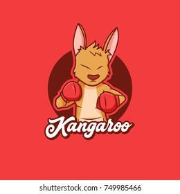 Boxing Kangaroo, Character Mascot Design