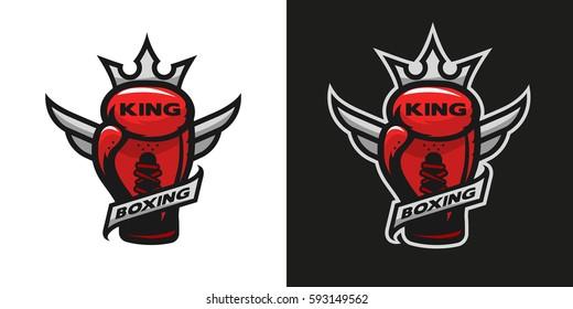 Boxing King. Boxing glove logo. Two version.