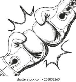 boxing label design, vector illustration eps10 graphic
