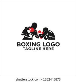 boxing logo design icon vector