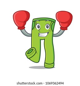Boxing pants character cartoon style vector illustration