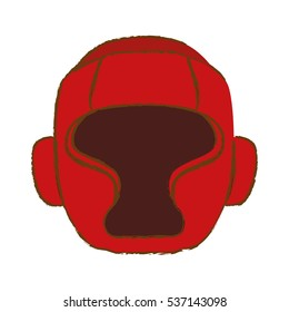 boxing protection helmeticon image vector illustration design