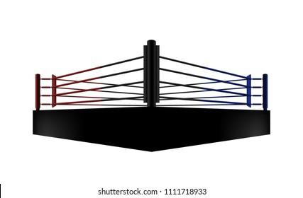 boxing ring arena vector design. Vector illumination