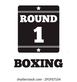 Boxing Ring Board. Boxing design over white background vector illustration.