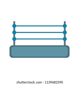 Boxing Ring. Isolated on white background. Vector illustration. EPS10. Blue colors.
